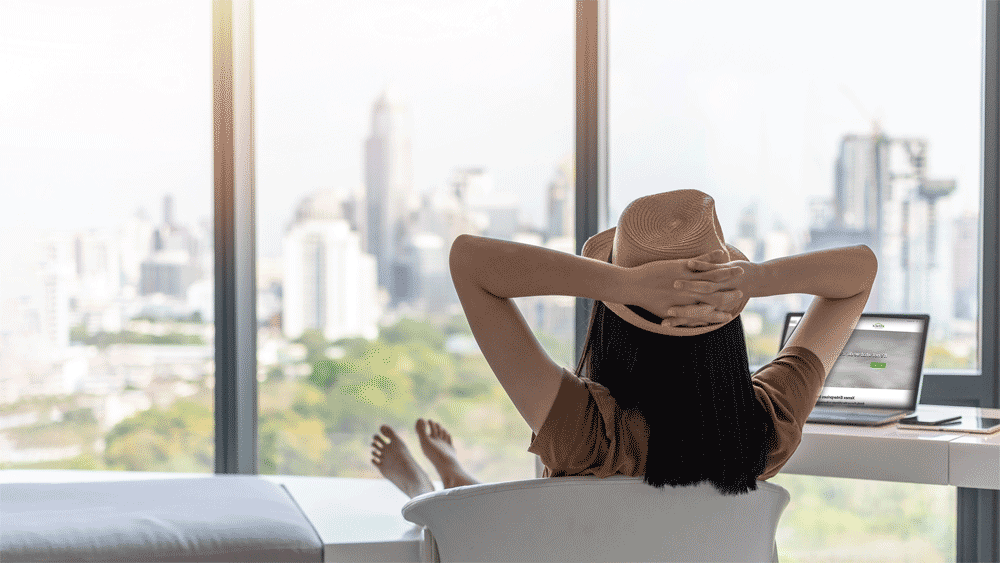 Women-relaxing-with-Xenex-website-in-Background2nd-angle