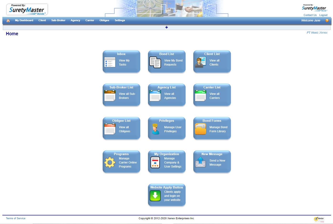 SuretyMaster Page Screenshot